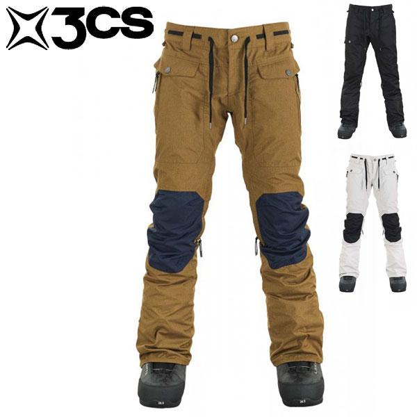 17-18 スリーシーエス クラッシュ パンツ 3CS Clash Mens Pant Dearborne/Jet/Stone メンズ スキー スノーボード ウェア パンツ