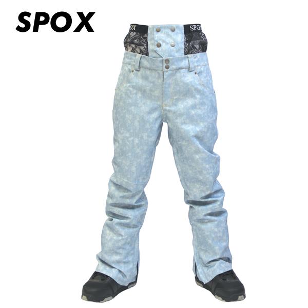 スノーボード ウェア パンツ メンズ レディース ユニセックス SPOX スポックス BL(ブルー) サイズM/L