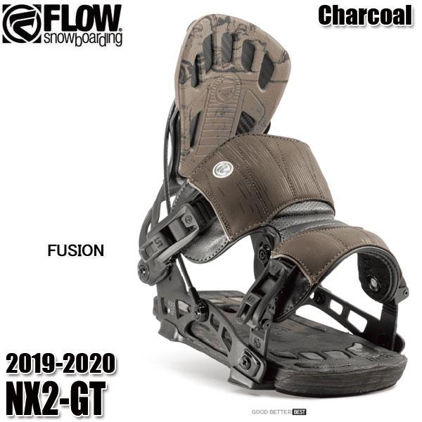 予約商品 19-20 フロー NX2-GT Fusion ビンディング FLOW CHARCOAL 男性用 メンズ ユニセックス スノボ スノーボード 2020