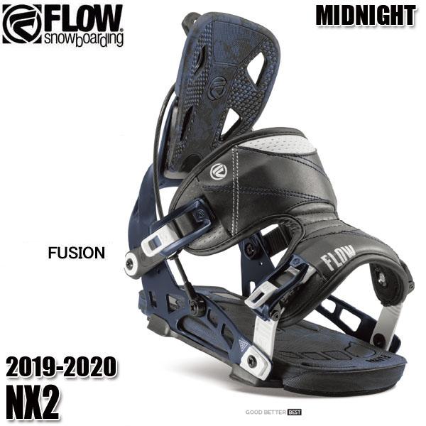 予約商品 19-20 フロー NX2 Fusion ビンディング FLOW MIDNIGHT 男性用 メンズ ユニセックス スノボ スノーボード 2020