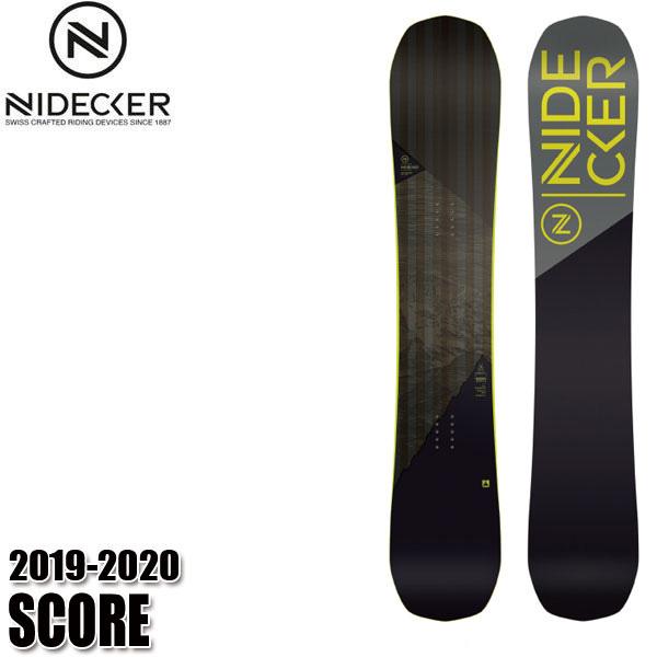 予約商品 19-20 ナイデッカー スコア NIDCKER SCORE スノーボード スノボ 板 メンズ 男性用 2020 オールマウンテン ハイブリットキャンバー
