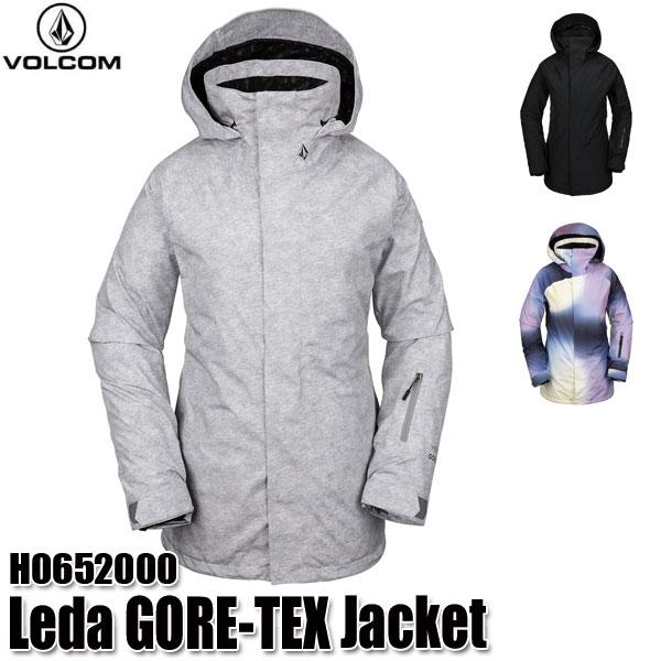 予約商品 19-20 ボルコム レダ ゴアテック ジャケット Volcom Leda GORE-TEX Jacket H0652000 BLK/HGR/WHT スノーウェア レディース 女性用 2020