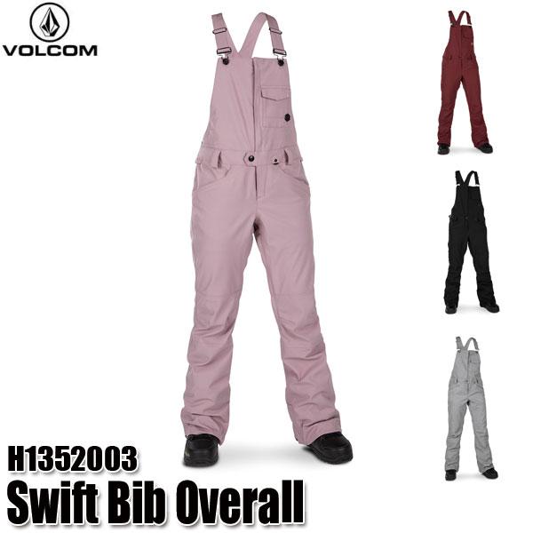 予約商品 19-20 ボルコム スウィフト ビブオーバーオール パンツ Volcom Swift Bib Overall H1352003 BLK/HGR/PUH/SCR スノーウェア レディース 女性用 2020