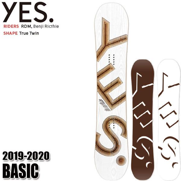 予約商品 19-20 イエス ベーシック YES BASIC スノーボード スノボ 板 メンズ 男性用 2020 ハイブリッドキャンバー