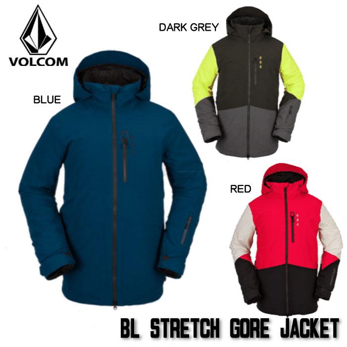 21-22VOLCOM 早期予約 ボルコム 新品未使用 ウェア ジャケット 21-22 VOLCOM BL メンズ JACKET 日本正規品 STRETCH おしゃれ G0652205 2022 予約 GORE