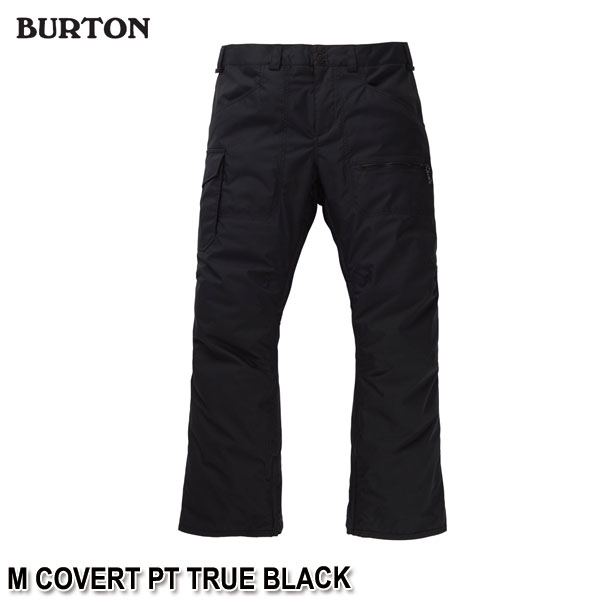 特典付 19-20 バートン BURTON M COVERT PT TRUE BLACK スノーウェア パンツ メンズ 男性用 2020 日本正規品 予約