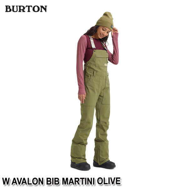 特典付 19-20 バートン BURTON W AVALON BIB MARTINI OLIVE スノーウェア ビブパンツ レディース 女性用 2020 日本正規品 予約