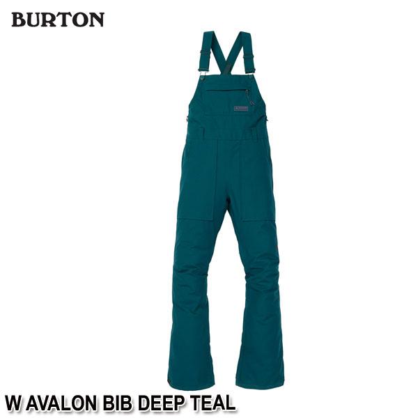 特典付 19-20 バートン BURTON W AVALON BIB DEEP TEAL スノーウェア ビブパンツ レディース 女性用 2020 日本正規品 予約