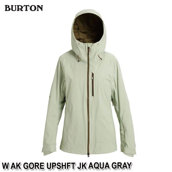 特典付 19-20 バートン BURTON W AK GORE UPSHFT JK AQUA GRAY スノーウェア ジャケット レディース 女性用 2020 日本正規品 予約