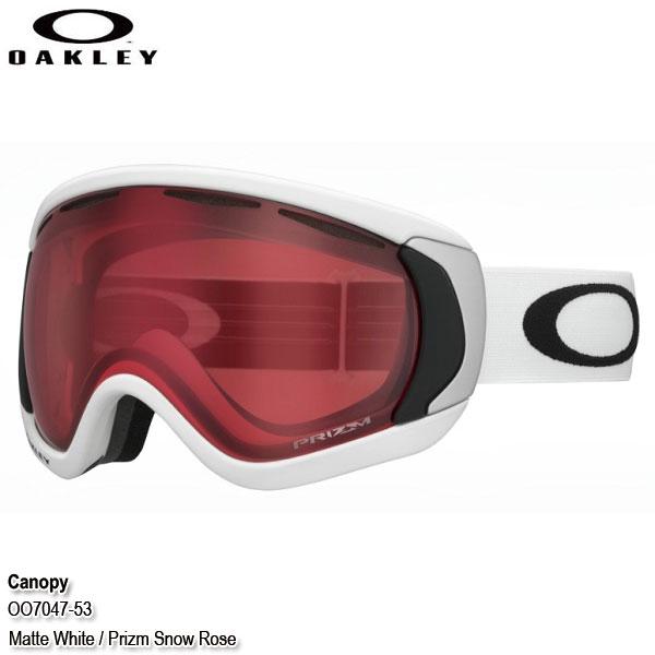 19-20 オークリー ゴーグル キャノピー OAKLEY Canopy OO7047-53 Matte White/Prizm Rose 日本正規品