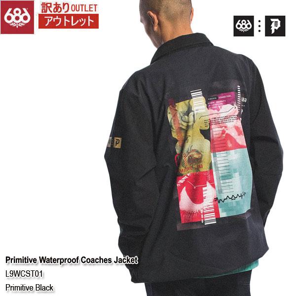 訳あり 19-20 アウトレット ジャケット スノーウェア シックスエイトシックス 686 Primitive Waterproof Coaches Jacket Primitive Black メンズ 男性用 2020