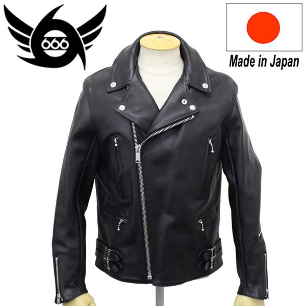 正規取扱店 666 LJM-1L U.K.SIDE BELT LEATHER JACKET REGULAR FIT LONG(サイドベルト レザージャケット レギュラーフィット ロング) 日本製 BLACK