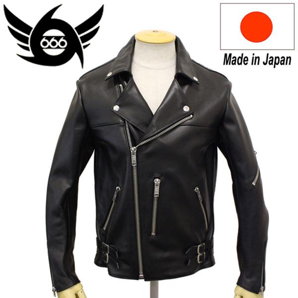 正規取扱店 666 LJM-12TF TIGHT FIT 70'S PUNK STYLE LEATHER JACKET (タイトフィット パンクスタイル レザージャケット) 日本製 BLACK