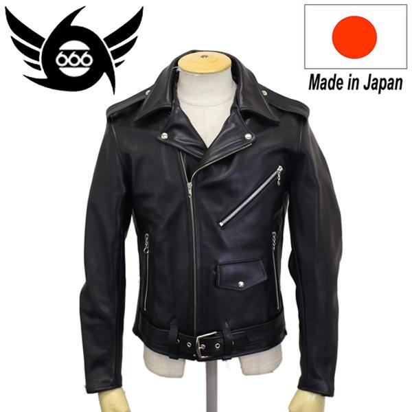 正規取扱店 666 MY WAY MAN マイウェイマン MMLJM-2 ツースター ランサーフロントライダースジャケット 日本製 BLACK