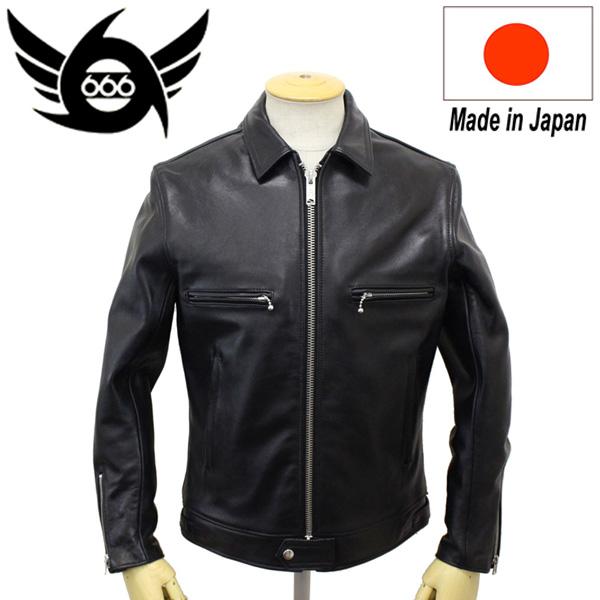 正規取扱店 666 LJM-17TF TIGHT FIT SINGLE LEATHER JACKET (タイトフィット シングル レザージャケット) 日本製 BLACK
