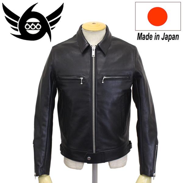 正規取扱店 666 MY WAY MAN マイウェイマン MMLJM-1 シングル ライダースジャケット 日本製 BLACK