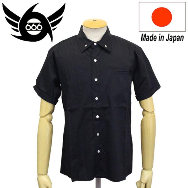 正規取扱店 666 ORIGINAL 1977 ワンスターシャツ 半袖 ブラック SOS0030