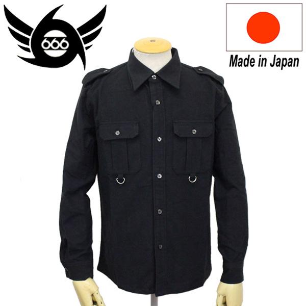 正規取扱店 666 ORIGINAL C.P.Oアーミーシャツ SOS0042 ブラック