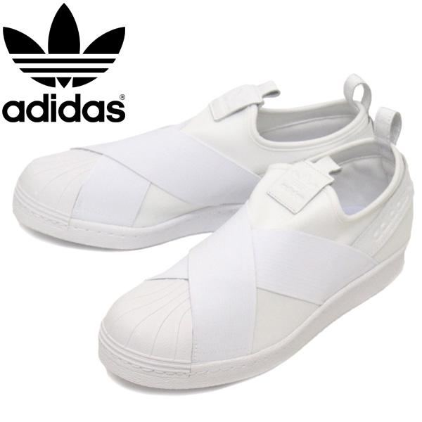 正規取扱店 adidas (アディダス) BZ0111 SS Slip On スーパースター スリッポン スニーカー フットウェアホワイト AD020