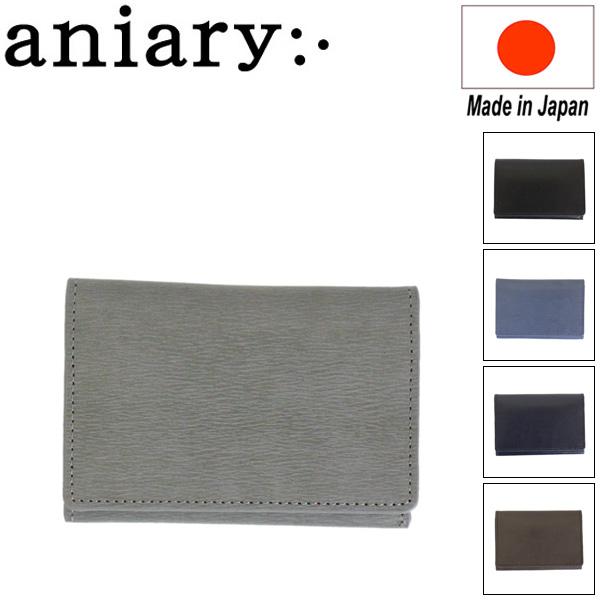 正規取扱店 aniary (アニアリ アニアリー) 21-20004 インヘリタンスレザー 名刺入れ 全5色 AN183