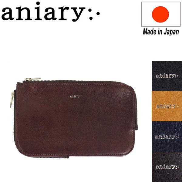 正規取扱店 aniary (アニアリ アニアリー) 01-08003 アンティークレザー ポーチ M 全5色 AN173