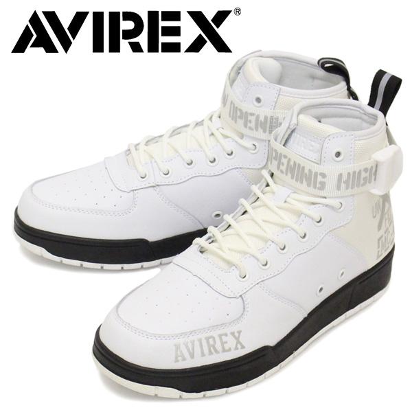 正規取扱店 AVIREX (アヴィレックス) AV1272 LANGLEY MID ラングレー ミッド スニーカー WHITE/BLACK