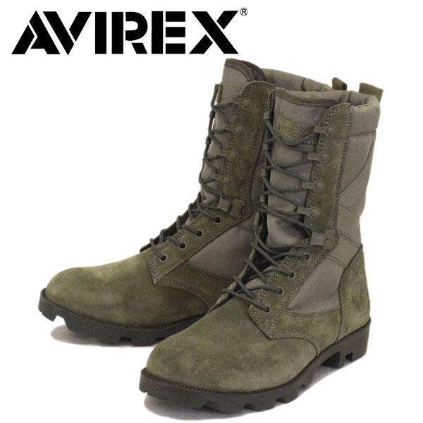 正規取扱店 AVIREX U.S.A.(アビレックス) AV2001 COMBAT コンバット スエードブーツ SMOKE GREY SUEDE