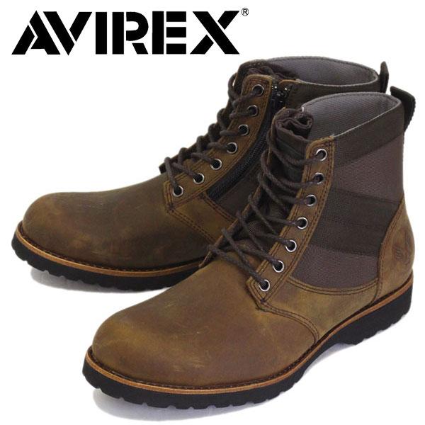 正規取扱店 AVIREX U.S.A.(アビレックス) AV2005 VANGUARD ヴァンガード サイドジップブーツ DARK BROWN