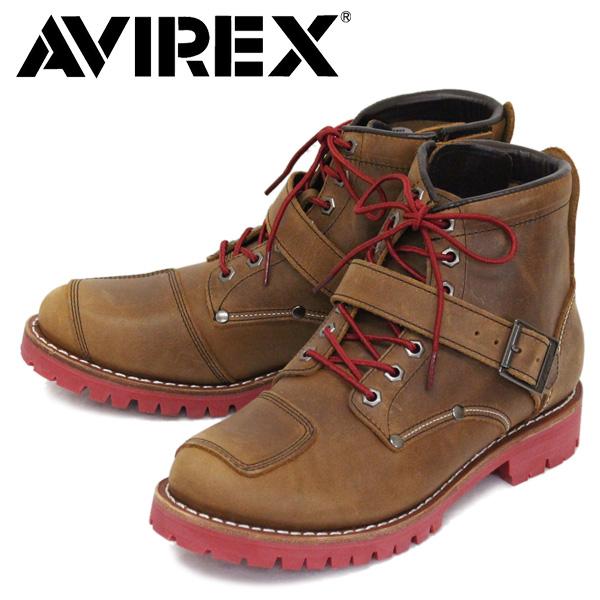 正規取扱店 AVIREX (アヴィレックス) AV2931 LIMITED 限定 TIGER タイガー バイカー レザーブーツ CRAZY HORSE / RED