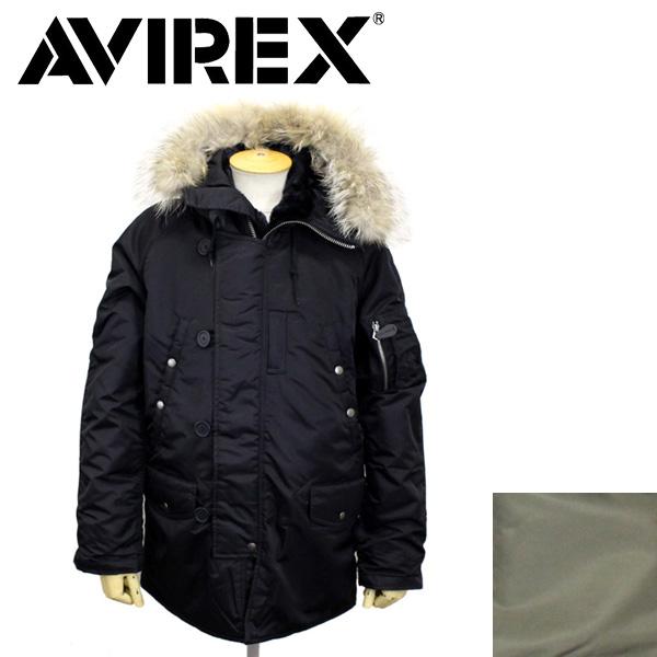 正規取扱店 AVIREX (アビレックス) N-3B COMMERCIAL REAL FUR コマーシャル リアルファージャケット 全2色