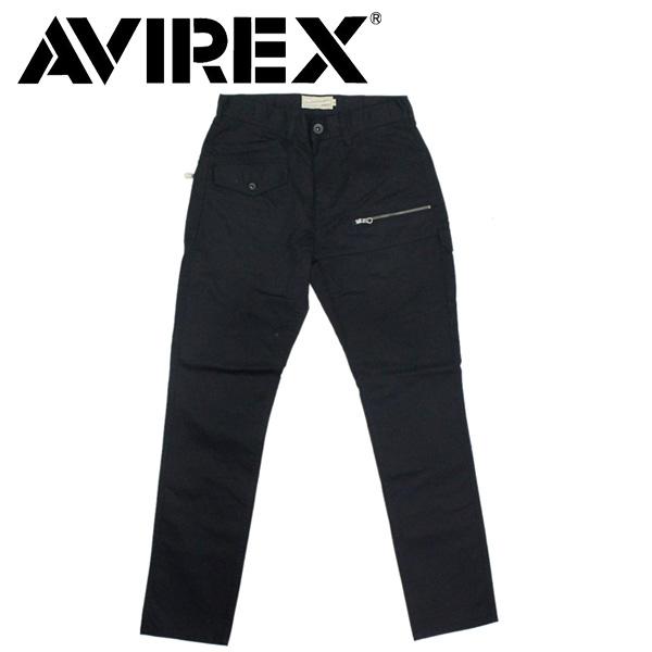 正規取扱店 AVIREX (アヴィレックス) 6156101 STRETCH DOBBY 8PKT PANTS ストレッチ ドビー パンツ 09BLACK