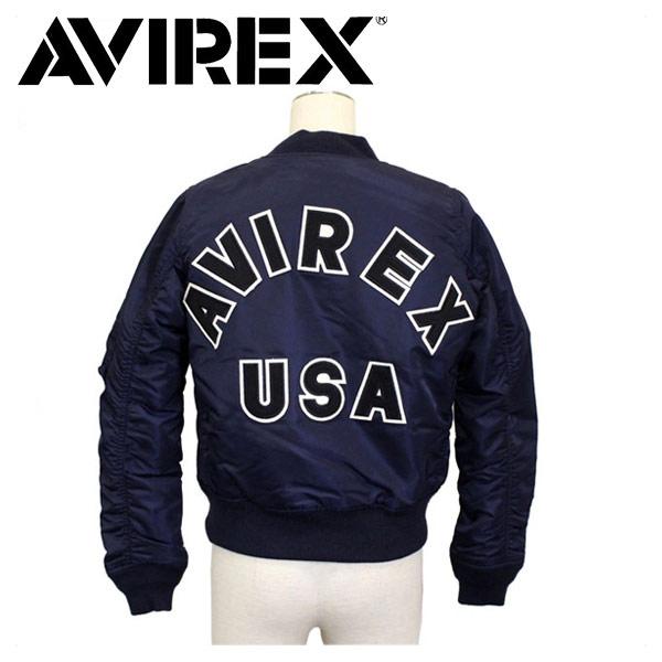 正規取扱店 AVIREX (アビレックス) WMS MA-1 COMMERCIAL LOGO コマーシャルロゴ フライトジャケット レディース 86-ROYAL