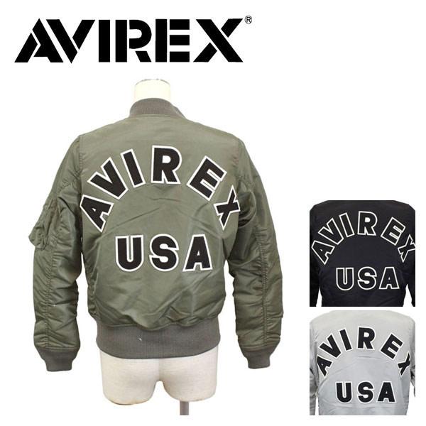 正規取扱店 AVIREX (アビレックス) WOMEN'S MA-1 COMMERCIAL LOGO (エムエーワン コマーシャルロゴ フライトジャケット) レディース 全3色