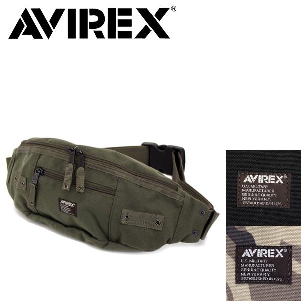 正規取扱店 AVIREX (アヴィレックス) EAGLE(イーグル) AVX3521 2WAY ウエスト / ワンショルダー バッグ 全3色