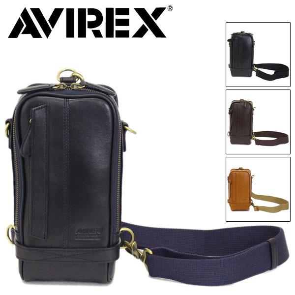 正規取扱店 AVIREX (アヴィレックス) Bulto(ブルト) AVX5610 2WAY レザーショルダーバッグ 全4色