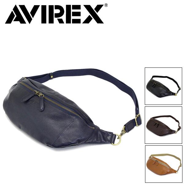 正規取扱店 AVIREX (アヴィレックス) Bulto(ブルト) AVX5614 レザーボディバッグ 全4色