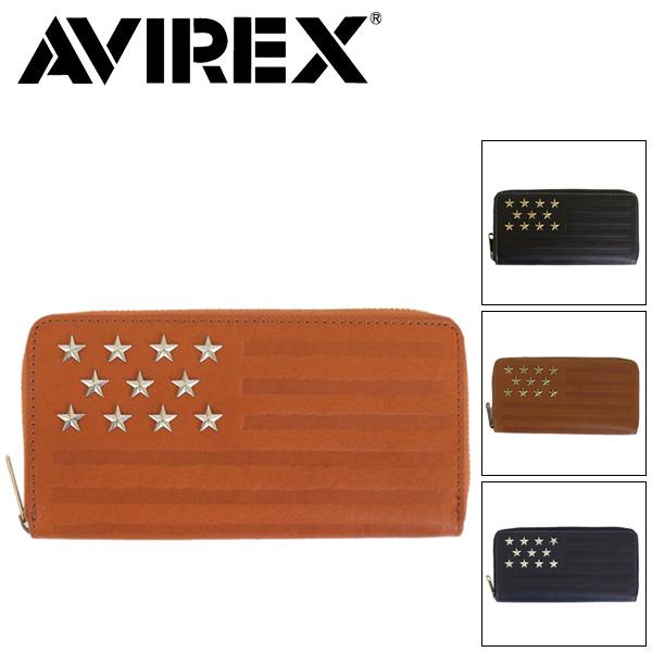 正規取扱店 AVIREX (アヴィレックス) FAHNE ファーネ AX9003 ラウンドファスナーロングウォレット 全4色