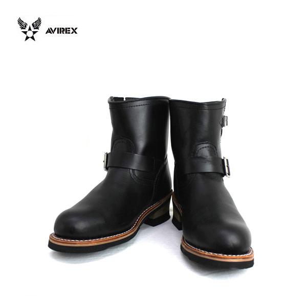 正規取扱店 AVIREX U.S.A.(アビレックス) AV2225 HORNET(ホーネット) ショートエンジニアブーツ BLACK ブラック
