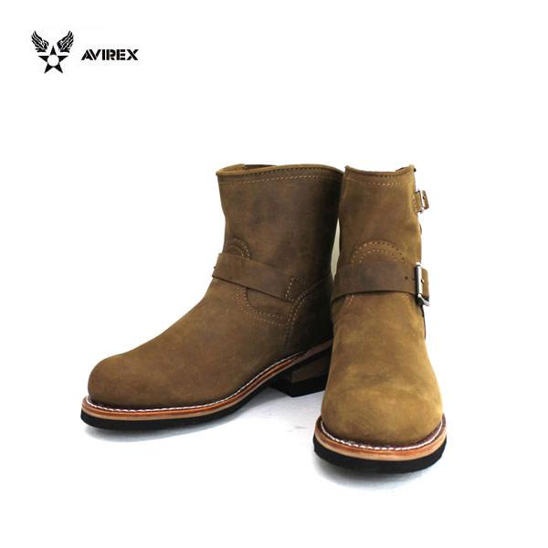正規取扱店 AVIREX U.S.A.(アビレックス) AV2225 HORNET(ホーネット) ショートエンジニアブーツ CRAZY HORSE クレイジーホース