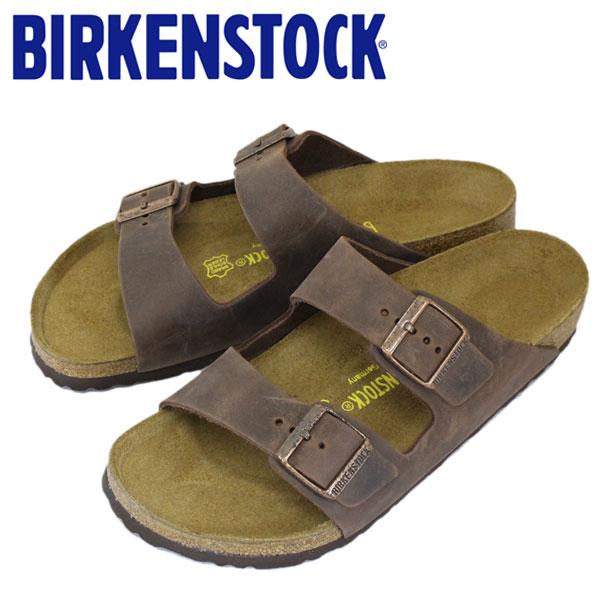 正規取扱店 BIRKENSTOCK (ビルケンシュトック) ARIZONA (アリゾナ) オイルドレザー サンダル レギュラー(幅広) HABANA(ハバナ) BI038