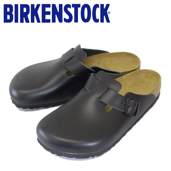 正規取扱店 BIRKENSTOCK (ビルケンシュトック) BOSTON (ボストン) スムースレザー サンダル レギュラー(幅広) BLACK(ブラック) BI041