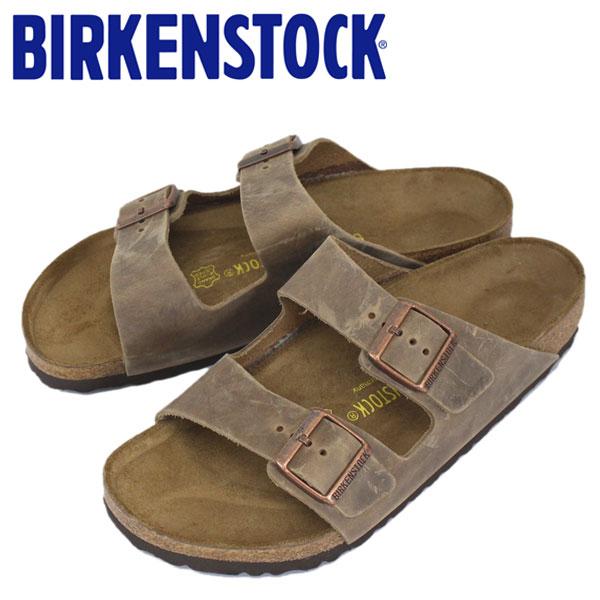 正規取扱店 BIRKENSTOCK (ビルケンシュトック) ARIZONA (アリゾナ) オイルドレザー サンダル レギュラー(幅広) TABACCO BROWN(タバコブラウン) BI039