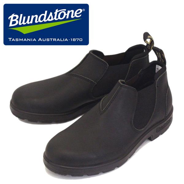 正規取扱店 Blundstone (ブランドストーン) BS1611089 #1611 CLASSICS LOW-CUT クラシック ローカット サイドゴア レザースリッポンシューズ Voltan Black BS004