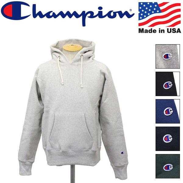 正規取扱店 Champion (チャンピオン) C5-U101 Reverse Weave リバースウィーブ プルオーバー フードスウェットシャツ アメリカ製 全6色 CN004