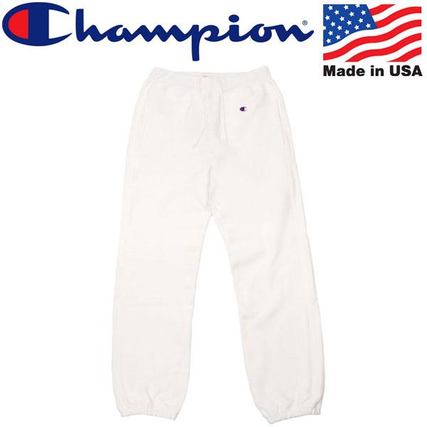 正規取扱店 Champion (チャンピオン) C5-Y201 Reverse Weave SWEAT PANT (リバースウィーブ スウェットパンツ) アメリカ製 010ホワイト CN039