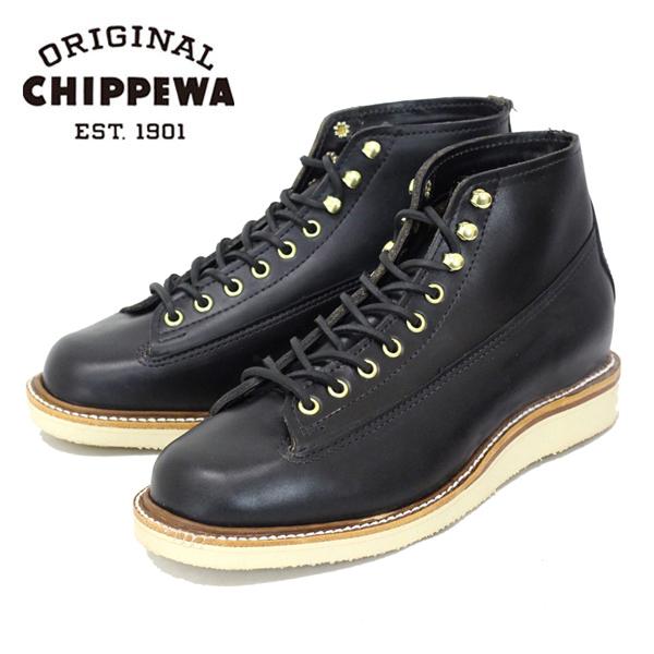 正規取扱店 CHIPPEWA チペワ 1958 5inch ORG LACE TO TOE レーストゥートゥ プレーントゥブーツ BLACK