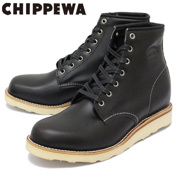 正規取扱店 CHIPPEWA (チペワ) 1901M15 6inch SPORT BOOTS 6インチ プレーントゥ スポーツブーツ BLACK