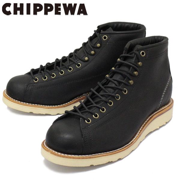 正規取扱店 CHIPPEWA (チペワ) 1901M34 5inch BRIDGEMEN 5インチ ブリッジマン レーストゥトゥブーツ BLACK