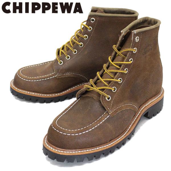 正規取扱店 CHIPPEWA (チペワ) 1901M64 6inch MOC TOE LUGGED FIELD BOOTS 6インチ モックトゥ ラギッドフィールドブーツ BROWN BOMBER