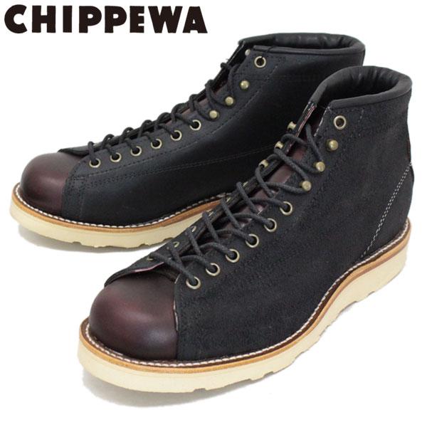 正規取扱店 CHIPPEWA (チペワ) 1901M81 5inch TWO-TONE SUEDE BRIDGEMEN 5インチ ツートーン スウェードブリッジマン レーストゥトゥブーツ BLACK/CORDOVAN